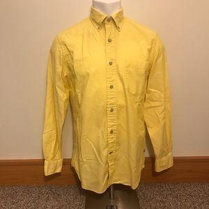 Nautica Yellow Casual Button Up Long Sleeve Shirt